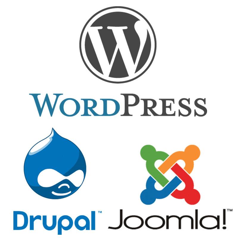سیستم های مدیریت محتوا از جمله وردپرس ، جوملا و دروپال