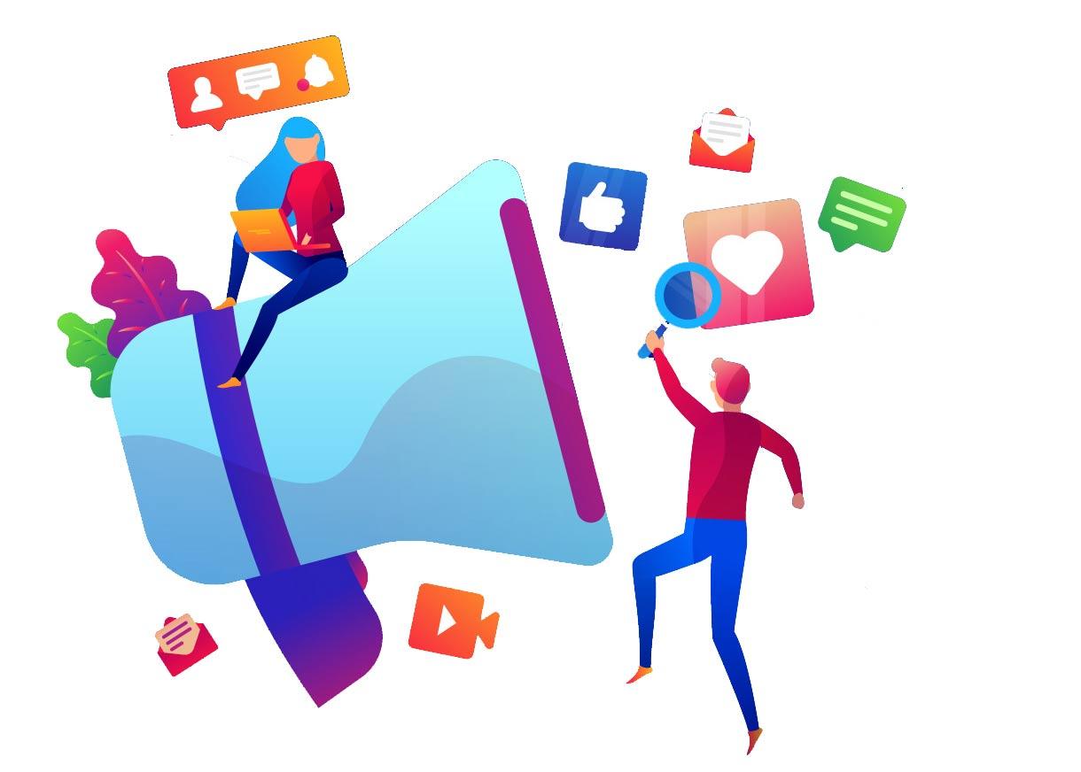 تبلیغات در شبکه های اجتماعی و وب سایت های پربازدید
