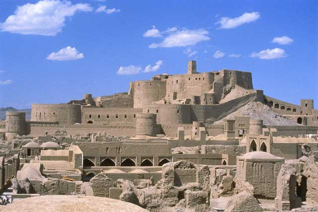 Castle and ruins in Bam, Iran