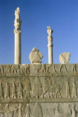 Excavation site Persepolis in Iran