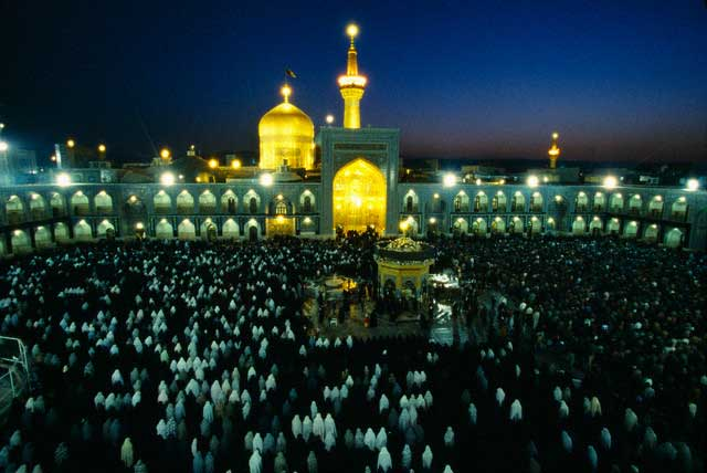 Evening Prayers at the Shrine of Imam Reza