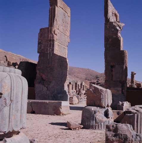 Persepolis Columns and Ruins