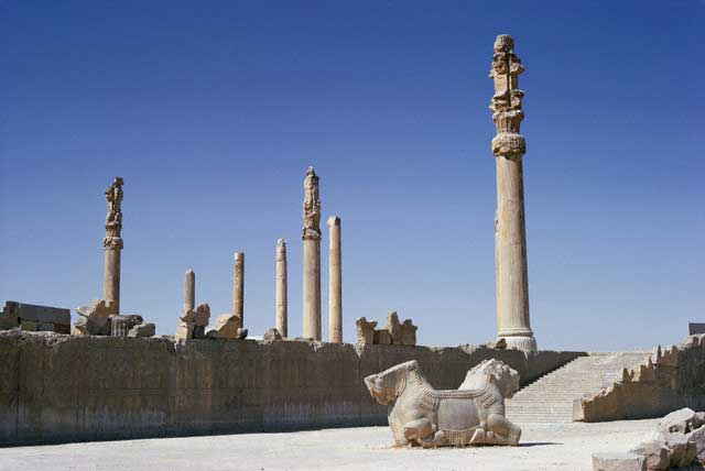 Ruins of the Apadana at Persepolis