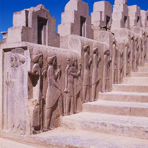 Relief Sculpture of Mede Dignitaries at Persepolis