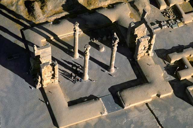 Aerial View of Gate of All Nations at Persepolis