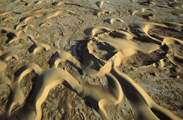 Aerial View of Kalut-e Gird