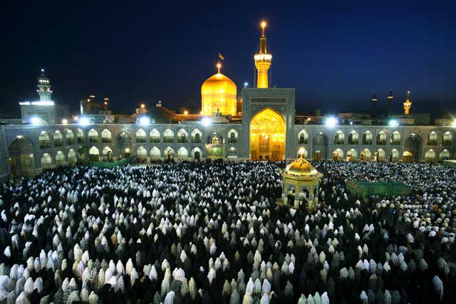 Evening Prayers at the Shrine of Imam Reza in Mashhad