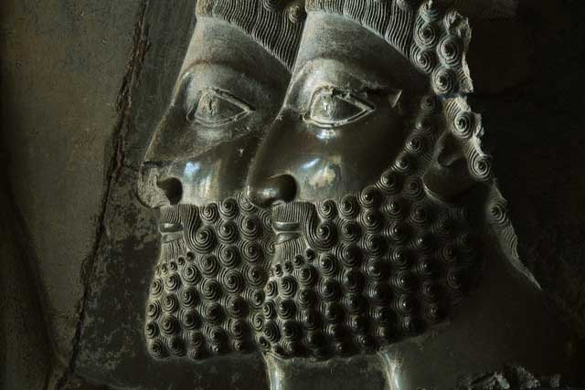 Detail of Relief Figures of Persian Soldiers