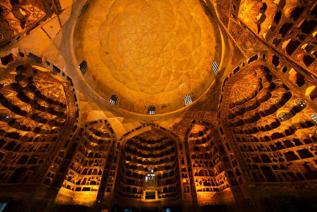 Dome Interior at the Mausoleum of Sheikh Safi-ad-din Arbabili