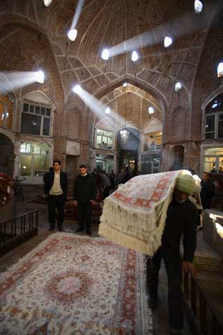 Carpet Dealers in a Bazaar in Tabriz