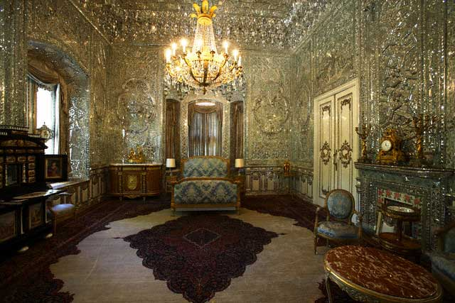Bedroom in the Green Palace at Sa'dabad Palace Complex
