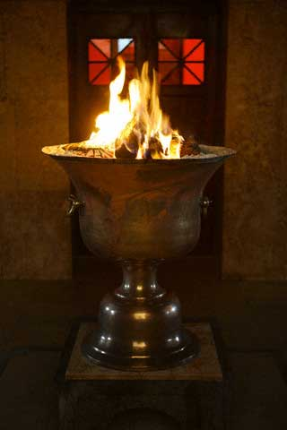 Eternal Flame at Ateshkade Zoroastrian Temple