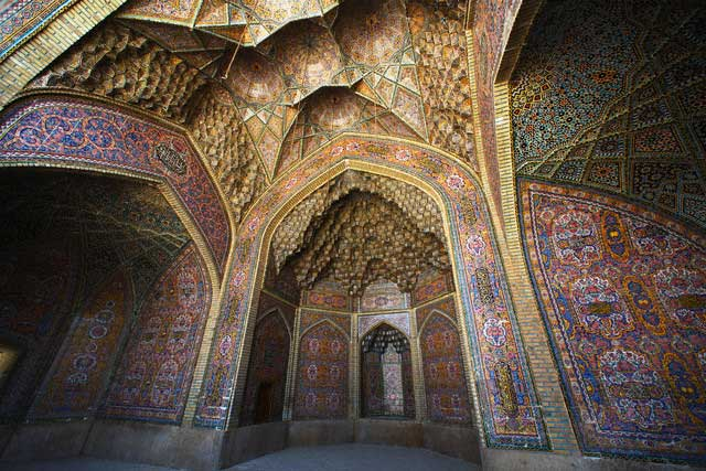 Tilework at Nasir al-Molk Mosque
