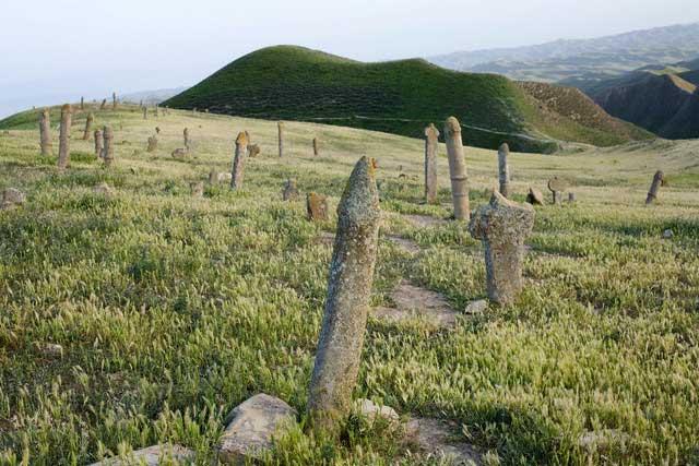 Iran - Gonbad - Pagan Grave markers