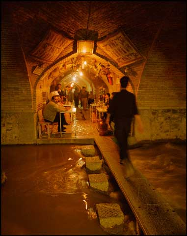 Tea House Under Bridge of 33 Arches