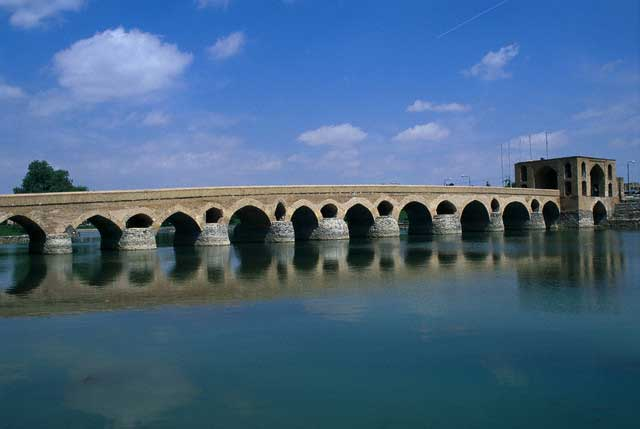 Pol-e Shahrestan Arched Bridge in Iran