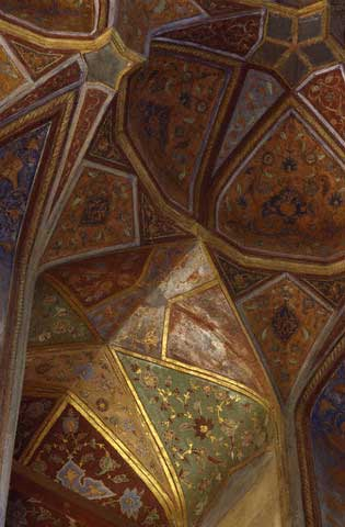 Floral Patterns in Hasht Behesht Palace