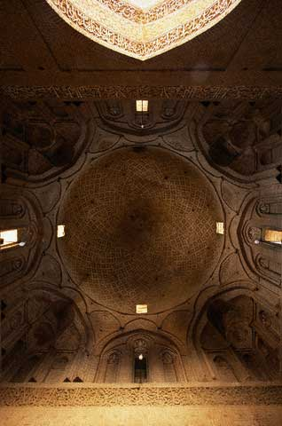 Interior of Dome at Mausoleum in Natanz
