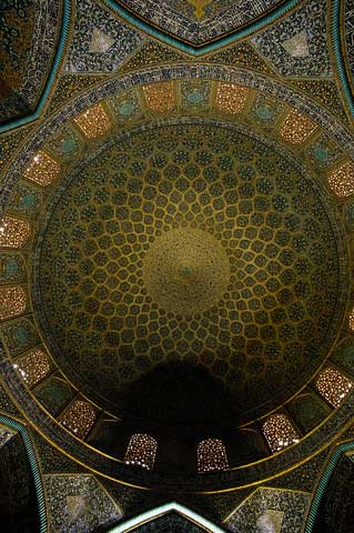 Interior of Dome on Mosque of Sheikh Lutfullah