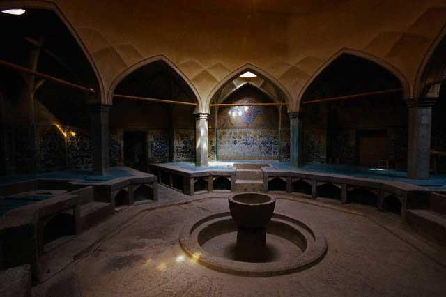 Inside Ali Roli Ara Hammam in Iran