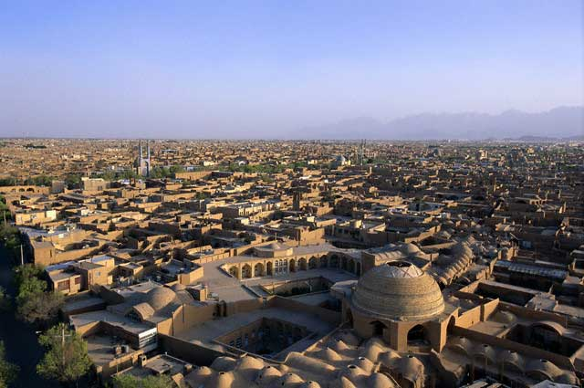 Aerial View of Yazd in Iran