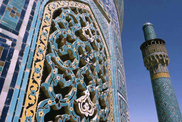 Meshrebeeyeh and Ceramic Mosaicwork at the Blue Mosque, Isfahan