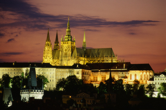 St Vitus Cathedral and Prague Castle at Dusk
