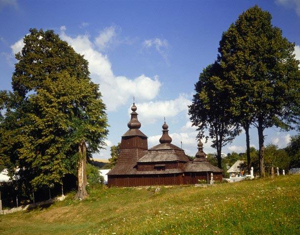 Historical wooden church in Bodruzal, Slovak