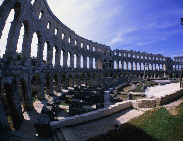 Amphitheatre, Pula, Istria Peninsula, Croatia