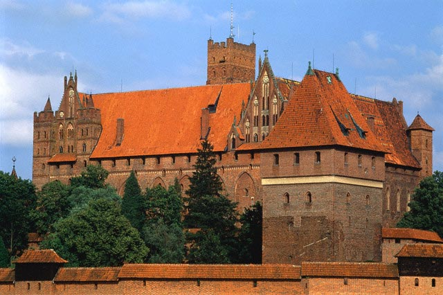 Castle of the orders in Malbork (Poland)