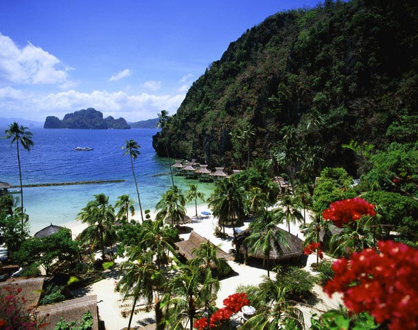 Beach of Palawan Island, Visayas Islands, Phi
