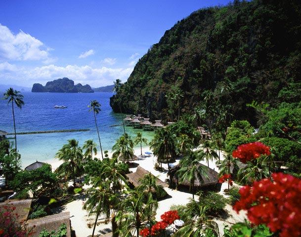 Beach of Palawan Island, Visayas Islands, Phi