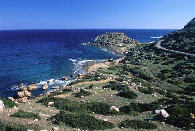 Coast in the near of Kayabar (Cyprus)