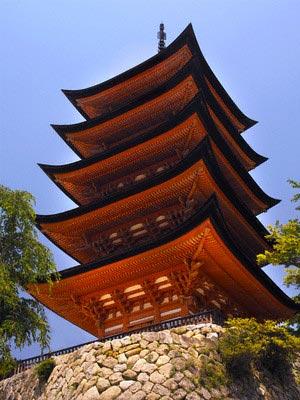 Pagoda at Miyajima, Japan
