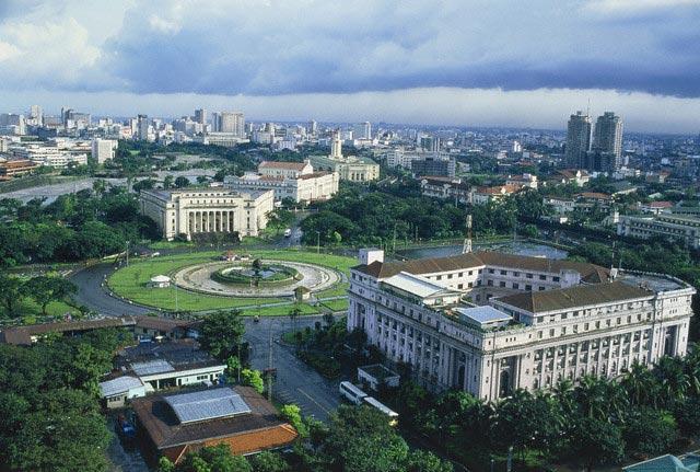 City view of Manila, Philippine, elevated vie