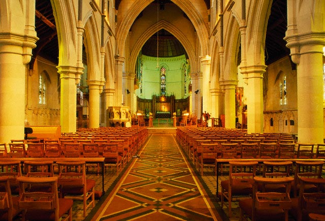 Inside Christchurch Cathedral