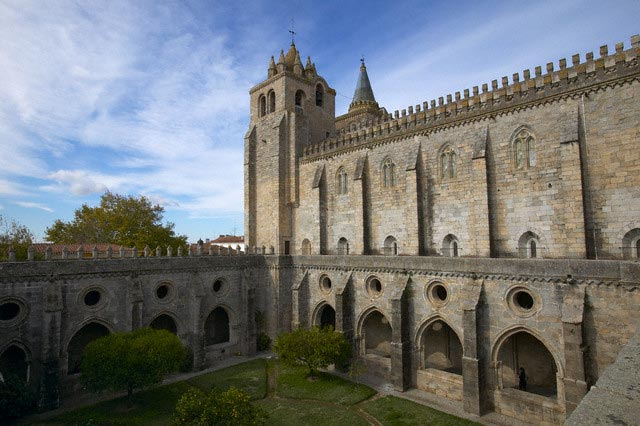 Convent Courtyard and Cathedral of Evora