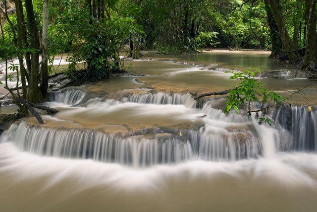 Waterfalls in Erawan National Park