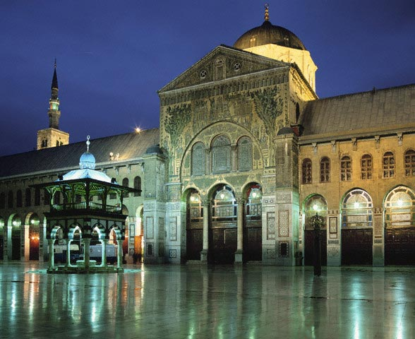 Evening landscape of Omayyad Mosque chapel
