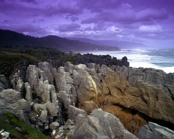 Pancake Rocks Punakaiki South Island, New Zea