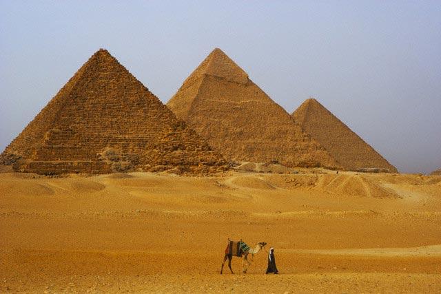 Camel Rider at Pyramids
