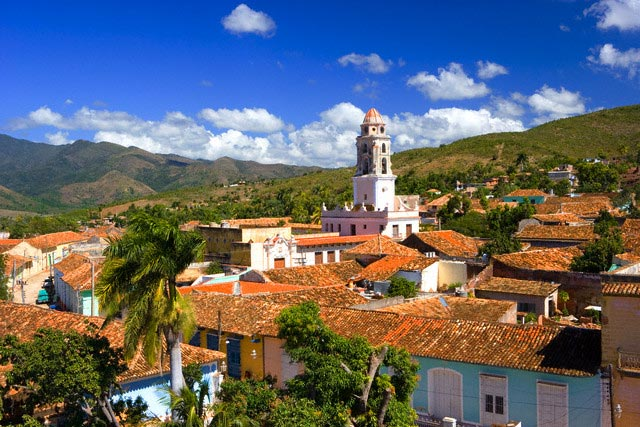 Town of Trinidad and Mountains