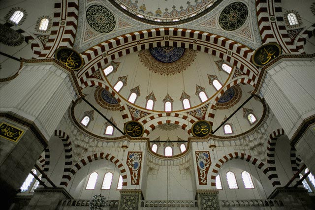 Interior of the Sehzade Mosque