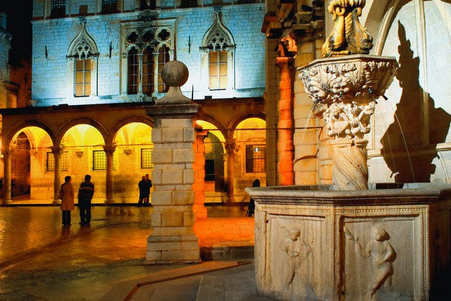 Onofrio Fountain and Sponza Palace