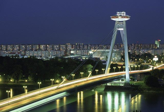 New Bridge, Novy Most, Over Danube River