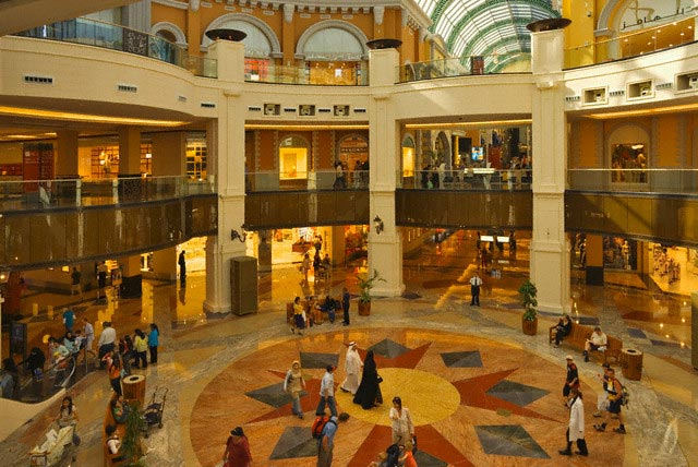 Shoppers in the Mall of the Emirates in Dubai