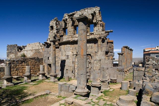 Roman Helios temple, Qanawat, Syria