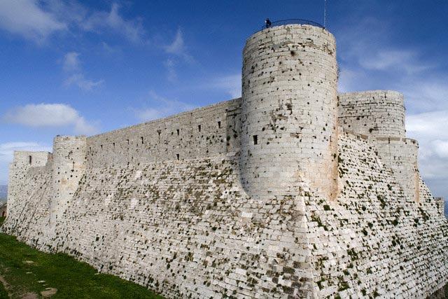 Crusader castle Krak des Chevaliers (1140-126
