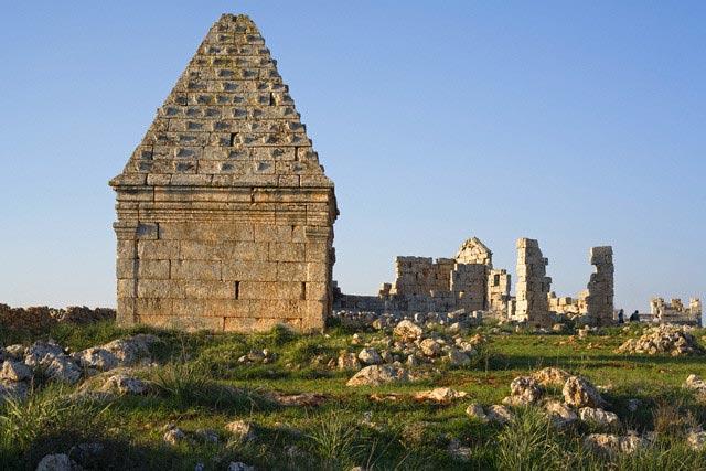 Roman pyramidal tomb, al-Bara, Syria