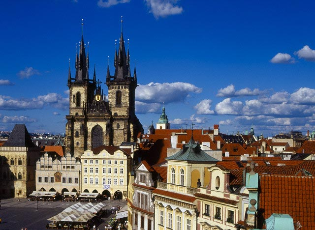 Tyn Church in Prague's Old Town Square